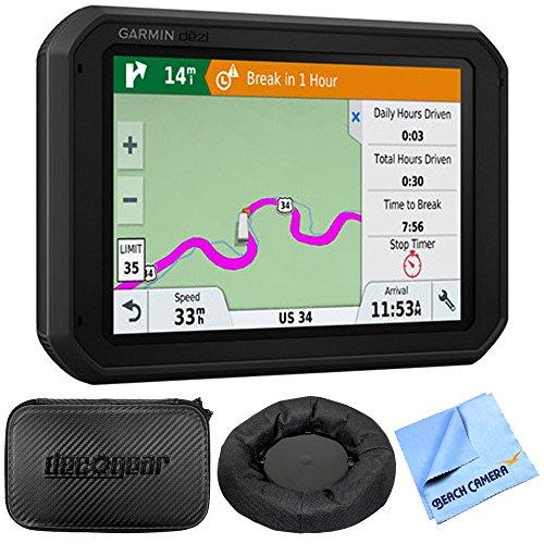Garmin dezl 780 LMT-S 7 GPS Truck Navigator (010-01855-00) with Accessories Bundle Includes, Universal GPS Navigation Dash-Mount, Hard EVA Case w/Zipper, 7-inch and 1 Piece Micro Fiber Cloth