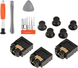 D DOLITY 3 Lot Headphone Audio Jack Plug 3.5mm Headset Connector Repair Parts for Xbox One Controller & Thumb Stick Cap Co...