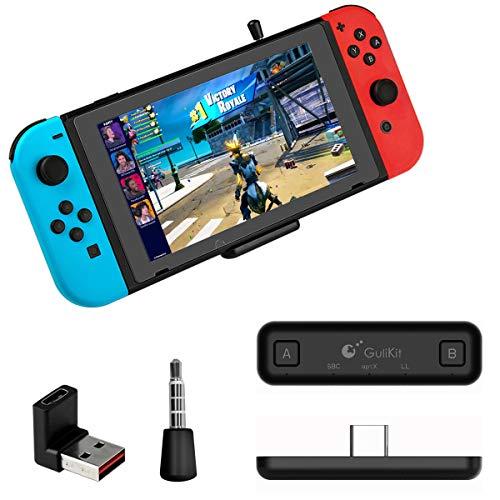 GULIkit NS07 Route Air PRO Bluetooth Adattatore Audio Wireless per Nintendo Switch, Switch Lite, PS4, PS5, PC - Nero