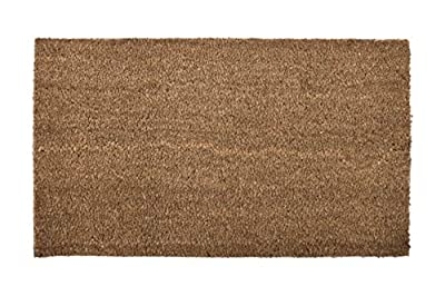 KIS Premium Quality Natural Coco MAT PVC Backing 16x28 INCH %100 Coconut Fiber, Recycled VINLY Back