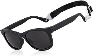 Lsdnlx - Lsdnlx Gafas de Sol,Gafas de Sol para bebés para niñas y niños conMeses deCorrea Ajustable
