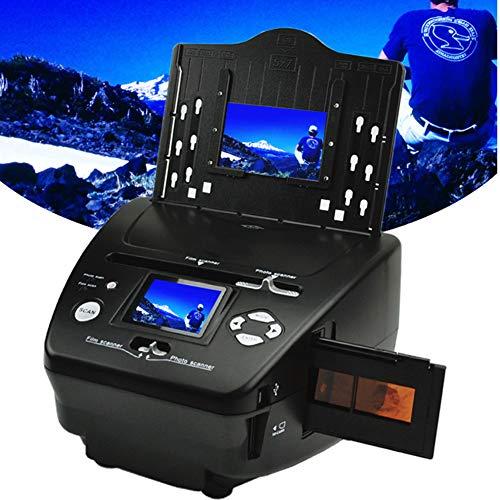 NZYMD - Escáner multifunción de fotos y diapositivas de 8/16MP convierte 35 mm/135 película/diapositiva/foto/tarjeta de visita a HD 16 MP digital JPG archivos soporte PC y Mac