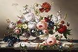 Cuadro En Lienzo Impresión En Lienzo Bodegones E Impresiones Clásicos Arte De La Pared Pintura En Lienzo Arreglo De Flores Cuadros De Pared Decoración De La Sala De Estar 30X45Cm Sin Marco Pc8396