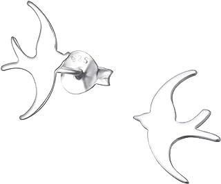 Ohrstecker 925 Sterling Silber Vögelchen Ohrringe Vogel Spatz Elegant Edel