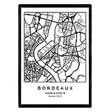 Nacnic Blade Bordeaux Stadtkarte nordischen Stil schwarz
