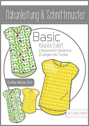 Schnittmuster kibadoo Kinder Basic Blusen-Shirt Papierschnittmuster