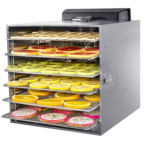 Best Review Of Professional Food Dehydrator Machine, 6 Drying Racks, Multi-Tier Food Preserver, Digi...
