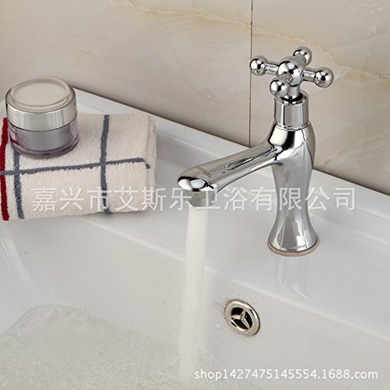 ETERNAL QUALITY Badezimmer Wasserhahn Messing Hahn Waschraum Mischer Tippen Sie auf Einen Kalten Wasserhahn Becken aus Bronze Wasserhahn Einzigen Griff Erkltung Wasserhhne Expres
