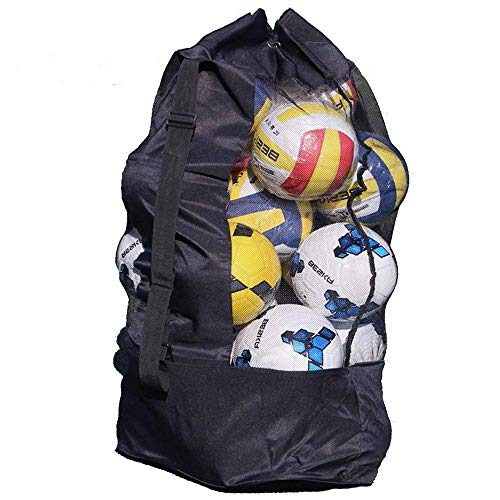 SUBZHAOYI 10-15 Ballnetztasche extra groß Fußball Basketball Aufbewahrungstasche für Training