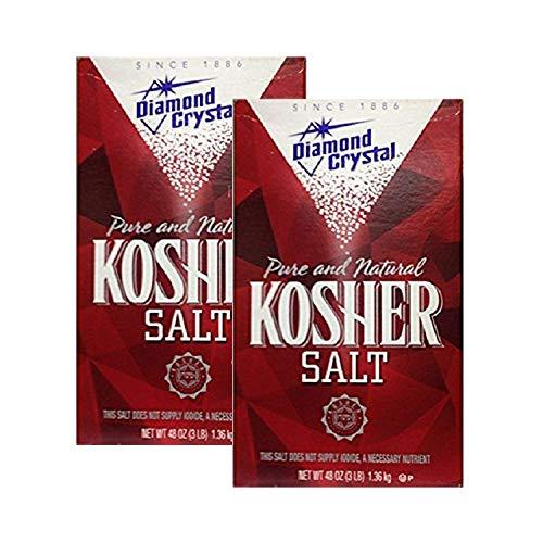 Diamond Crystal Kosher Salt, 3 lbs (Pack of 2)