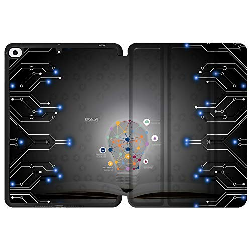 SDH Funda para iPad Mini 7.9 de 5ª generación 2019,funda protectora de TPU suave para la parte trasera de reposo/despertar automático para iPad Mini 5 2019/iPad Mini 4 4th 2015, bombilla 7