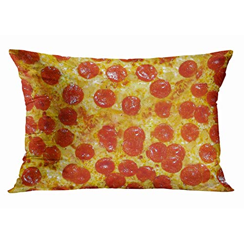 Tarolo Home Decor Pillow Cover Case Design Pepperoni Cheese Pizza Decorative Pillowcase Pillow Covers Cases Protector Best Pillow Cover 20x30 Inches Two Sided Print
