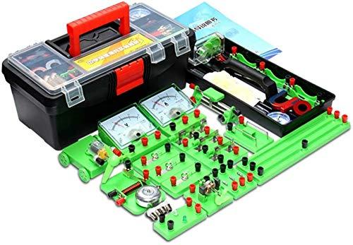 Experimento Estudiantes de la Escuela Física Magnetismo eléctrico Circuito Kit básico Electrónica...