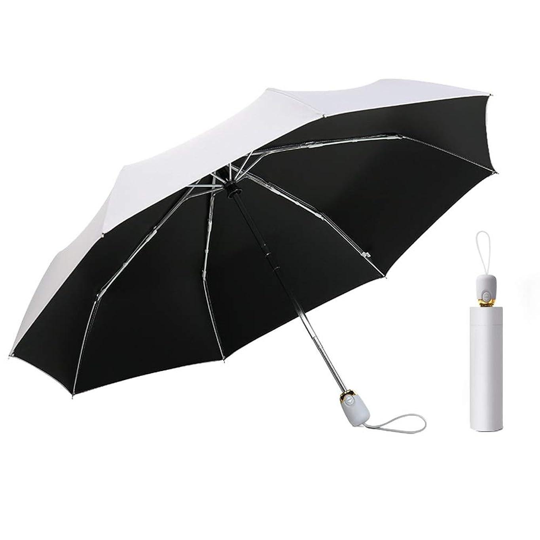 スカートネックレス全国BTXXYJP 折りたたみ傘 レディース 傘 日傘 軽量 晴雨兼用 耐風 撥水 自動開閉 UVカット 通勤 通学 かさ (Color : シルバー, Size : フリー)