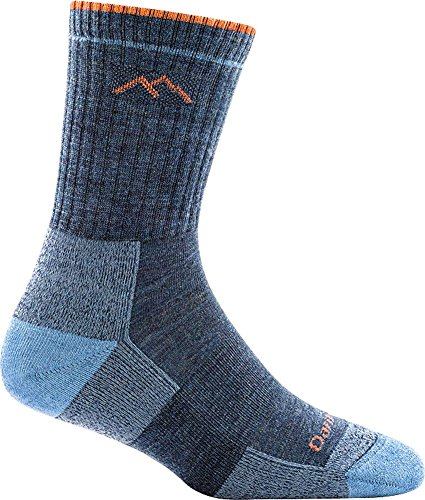 Darn Tough Women's Micro Crew Cushion Sock, Denim, Small