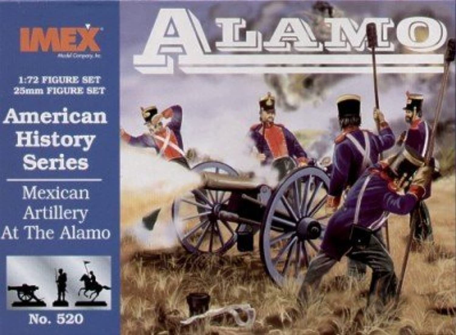 Mexican Artillery Alamo American History Figures Set 1 72 Imex by Imex