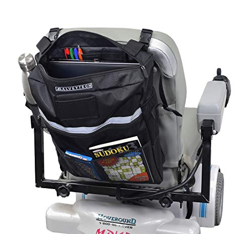 AlveyTech Seat Backpack Bag for Mobility Scooters, Power Chairs, Wheelchairs
