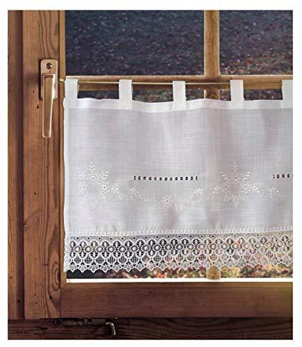 Scheibengardine Landhausgardine Chloe skandinavisch-französischer Landhausstil ca. 45x150cm