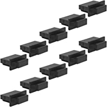Seismic Audio - SAPT530-10 Pack of Black HDMI Male Dust Covers - HDMI Port Protectors - Keeps Debris from Female Connectors