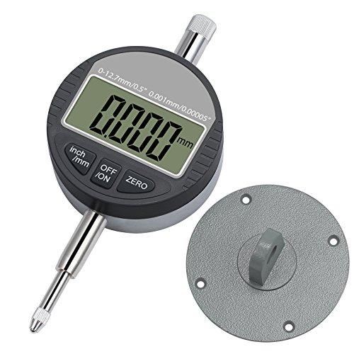 Neoteck DTI Digital Dial Indicator 0.5''/12.7mm, Digital Probe Indicator Dial Test Gauge High Resolution: 0.00005''/ 0.001mm