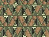 Dekostoff Vorhangstoff Baumwolle Utopia Muster Mosaik grün