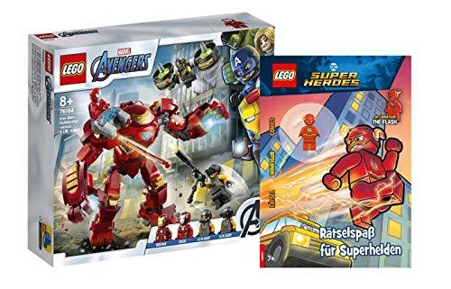 Collectix Lego - Set: Marvel Avengers 76164 Iron Man Hulkbuster vs. A.I.M.-Agent + Rätselspaß für Superhelden (Softcover)
