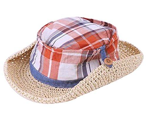 Bébé Durable Chapeau d'Été Mode Garçon Fille Jazz Chapeau de paille Chapeau de s #01