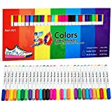 Fabric Markers Pen 30 Colors Permanent Paint Art Marker Set for Writing Painting on T-Shirts Clothes Sneakers...