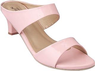 RESTAYEL Women Stylish Trending Fancy Kitten Heel Fashion sandal