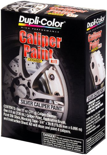 Dupli-Color (BCP403-2 PK) Silver Brake Caliper Paint Kit – 8 oz. Aerosol, (Case of 2)