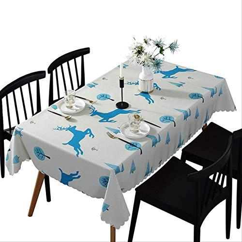 Mantel de PVC desechable a Prueba de Aceite antiescalda Impermeable de Ciervo de la Selva decoración de Fiesta de Comedor en casa 135 * 200 cm