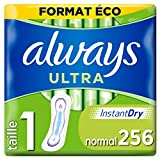 Always Ultra - Serviettes hygiéniques, Normal, Format éco x256