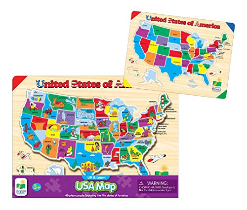 The Learning Journey Lift & Learn Puzzle - USA Map - Preschool Toys & Gifts for...