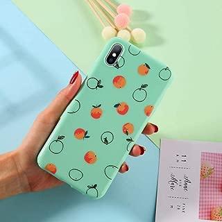 GUYISJK Cover Iphone,Stylish Orange Green Back Cover Patternfor Iphone 6 6S 6Plus 7 7Plus 8 8Plus X Xs Xr Xs Maxsoft Tpu Silicone Back Cover,For Iphone 7/8