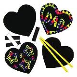 Kratzbild-Magneten - Herz