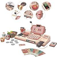 レジ、キッズスーパーマーケットのおもちゃレジ果物野菜アイスクリームバスケットセット初期の教育玩具スーパーマーケットのおもちゃ