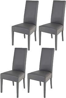 Tommychairs - Set 4 sillas Luisa para Cocina Comedor Bar y Restaurante solida Estructura en Madera de Haya y Asiento ta...