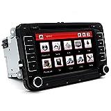 'junsun 7Lettore DVD CD GPS Navigazione Bluetooth Touch Screen Radio 2DIN Stereo per VW/Volkswagen/Passat/Golf/Skoda/Seat regalo gratis Camara visione posteriore