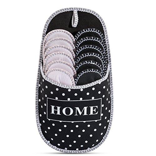 ONVAYA Zapatillas de huéspedes antideslizantes | conjunto de 6 | Zapatilla de fieltro | Puntos puntos Dots