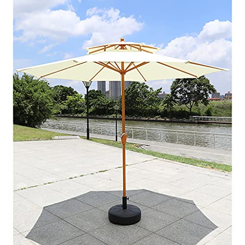 YRCWZF Sombrilla de Mesa Al Aire Libre, Protección UV Sombrilla de Mercado de Tela de Poliéster Que no Se Decolora, para Patio Jardín Playa Piscina,Umbrella + Base