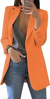FLYCHEN Women's Suit Jacket Lapel Suit Blazer Open Front Casual Suit Long Sleeve Office Suit