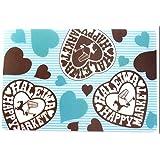 ハワイ お土産 ハレイワ マーケット PPランチョンマットハワイアン雑貨 (HAPPY HEART LBL)