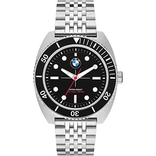 BMW Reloj Hombre Acero Inoxidable Color Negro- Ref BMW6009