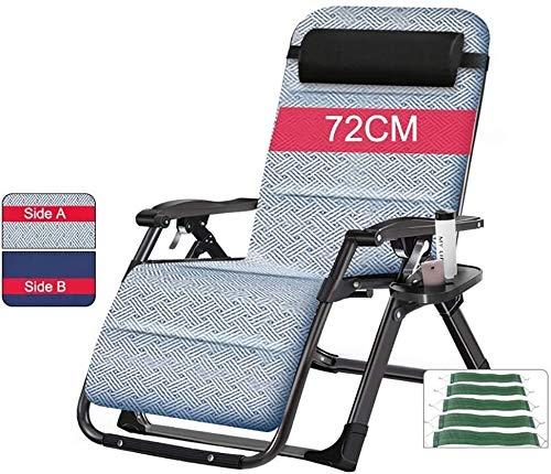 DFVV Tumbonas Las sillas reclinables Patio de Gran tamaño for Heavy Personas, Silla Tumbona Gravedad Cero Acampar al Aire Libre Plegables sillas portátiles Tumbona