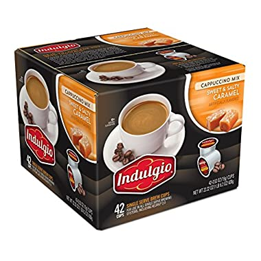 Indulgio Cappuccino Sweet and Salty Caramel, 42 Count