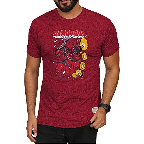 Marvel Deadpool Retro Tshirt Red - XL - Deadpool Red