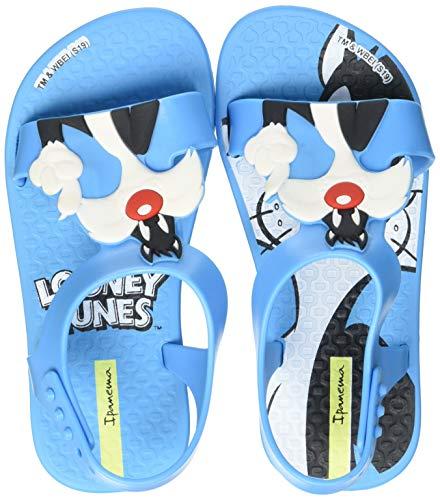 Ipanema Looney Tunes Baby, Sandalias Planas Bebé-Niños, Azul, 19.5 EU