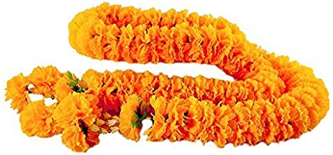 wonderflowers Big Size 1.70 Meter Artificial Yellow Marigold Garland for Make A Wish