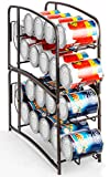 Auledio Stackable Beverage Can Dispenser Rack, Can Storage Organizer Holder for Canned food or Pantry Refrigerator(2 Pack)