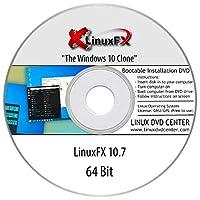 "LinuxFX 10.7 Cinnamon Live ""The Windows 10 Clone"" (64Bit) - Bootable Linux Installation DVD"